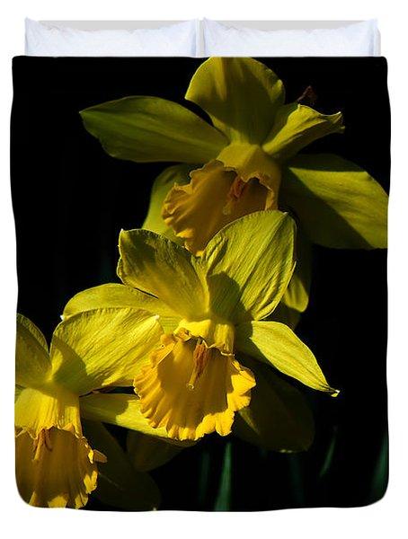 Golden Bells Duvet Cover by Lois Bryan