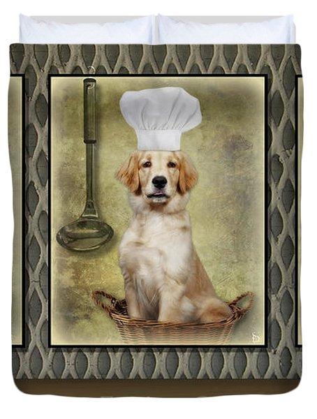 Golden Chef's Duvet Cover by Susan Candelario