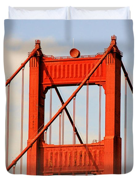 Golden Gate Bridge - Nothing equals its majesty Duvet Cover by Christine Till