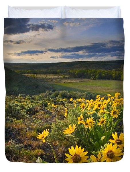 Golden Hills Duvet Cover by Mike  Dawson