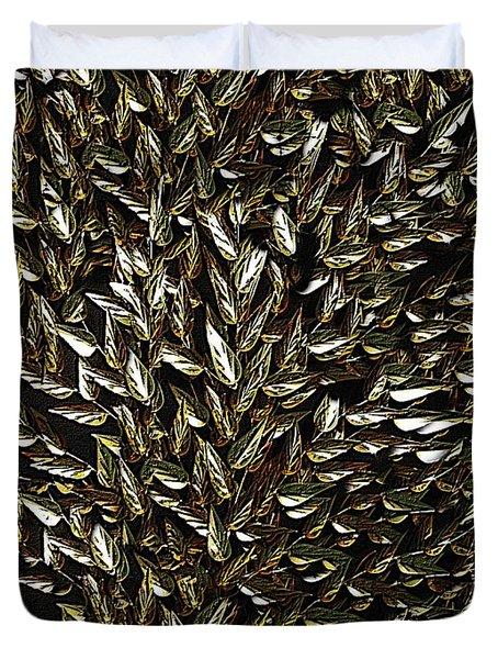 Golden Leaf Duvet Cover by David Dehner