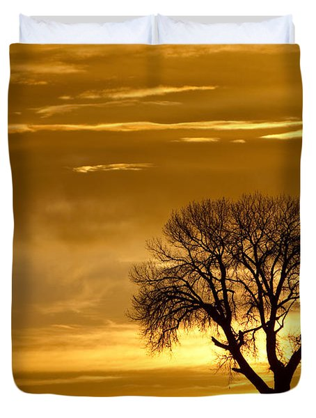 Golden Silhouette Duvet Cover by James BO  Insogna