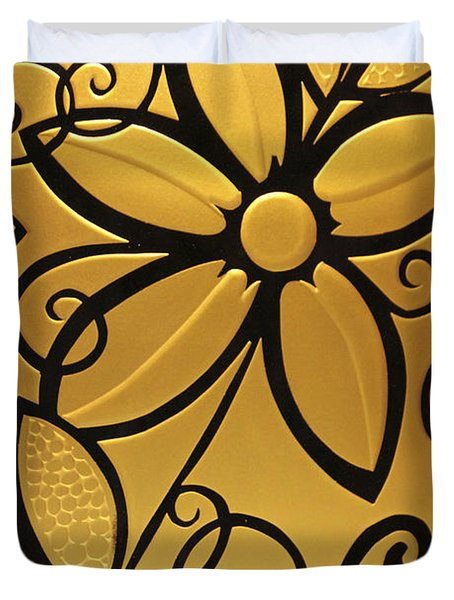 Goldenrod Duvet Cover by Shelley Neff