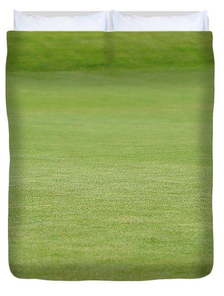 Golf Balls Near Flagstick Duvet Cover by Henrik Lehnerer
