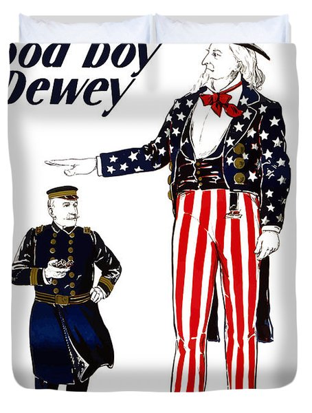 Good Boy Dewey Duvet Cover by War Is Hell Store