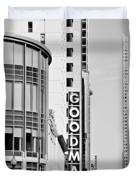 Goodman Theatre Center Chicago Duvet Cover by Christine Till