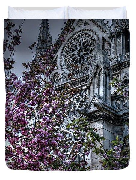 Gothic Paris Duvet Cover by Jennifer Ancker