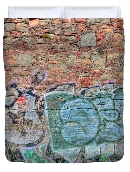 Graffiti Duvet Cover by Kathleen Struckle
