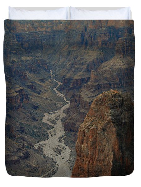Grand Canyon-aerial Perspective Duvet Cover by Douglas Barnard