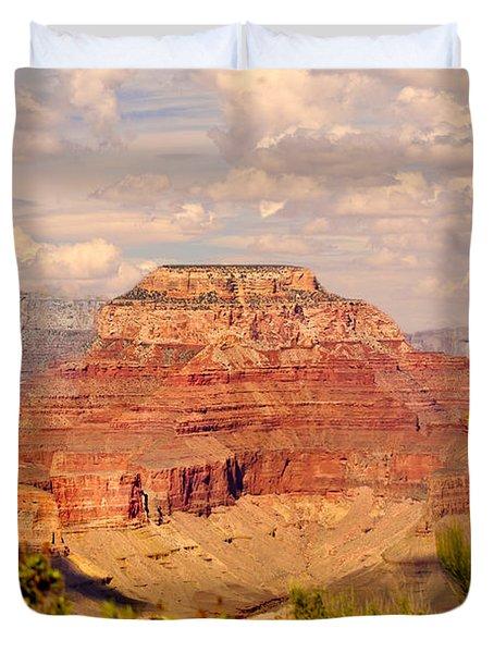 Grand Canyon - Yavapai Duvet Cover by Bob and Nadine Johnston