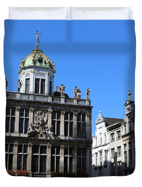 Grand Place Buildings Duvet Cover by Carol Groenen