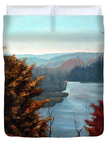 Grand River Look-out Duvet Cover by Hanne Lore Koehler