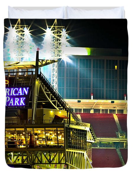Great American Ballpark Duvet Cover by Keith Allen