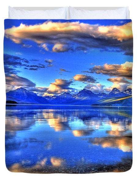 Great Glacier Lake Duvet Cover by Scott Mahon