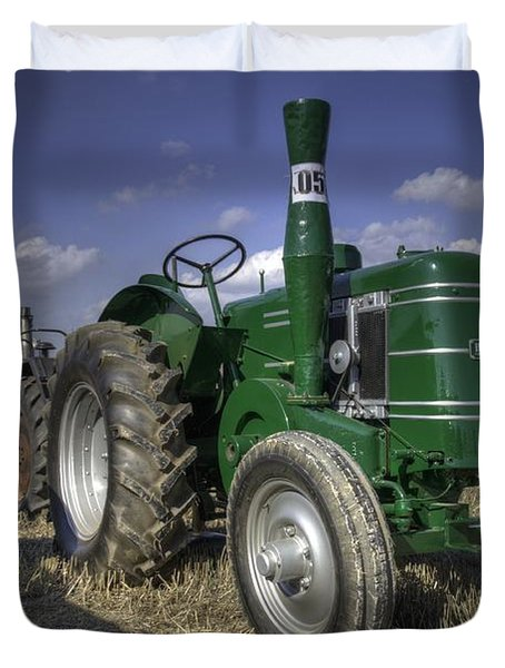 Green Field Marshall Duvet Cover by Rob Hawkins