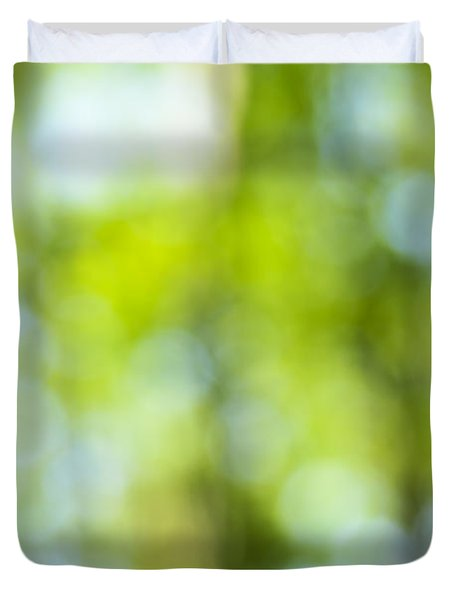 Green Forest And Blue Sky Duvet Cover by Elena Elisseeva