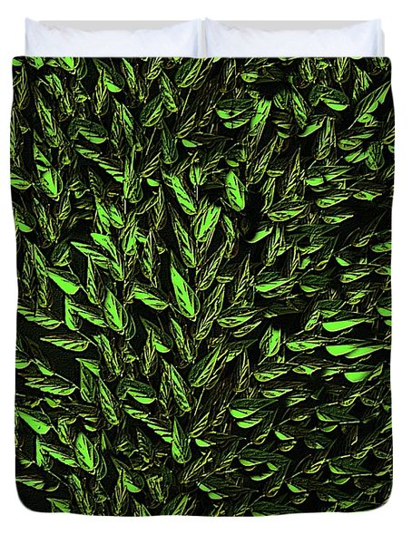 Green Leaf Duvet Cover by David Dehner