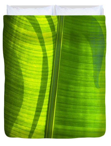 Green Leaf Duvet Cover by Setsiri Silapasuwanchai
