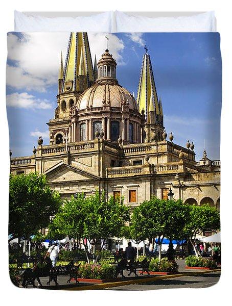 Guadalajara Cathedral Duvet Cover by Elena Elisseeva
