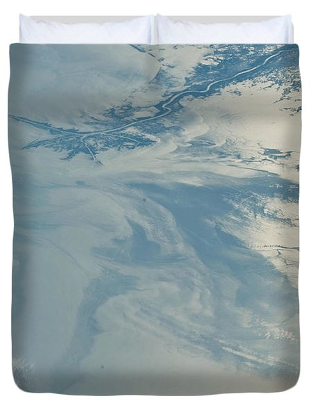 Gulf Of Mexico Oil Spill From Space Duvet Cover by NASA/Science Source