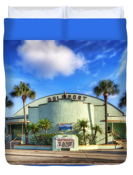 Gulfport Casino Duvet Cover by Tammy Wetzel