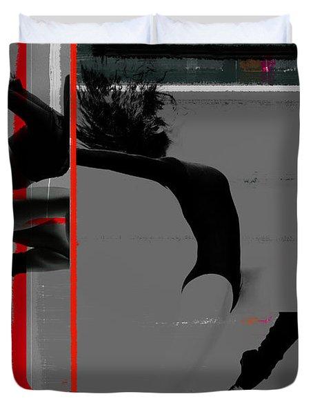 Gymnastics Duvet Cover by Naxart Studio
