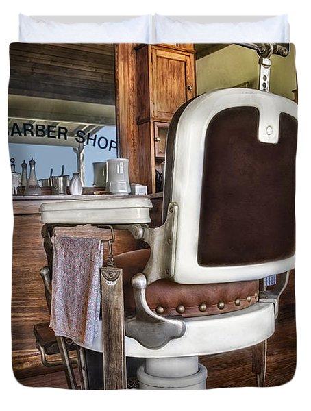H J Barber Shop Duvet Cover by Susan Candelario