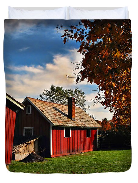 Hale Farm In Autumn Duvet Cover by Joan  Minchak