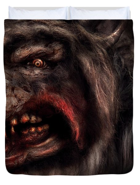 Halloween -  Mad Dog Duvet Cover by Mike Savad