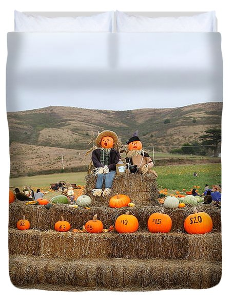 Halloween Pumpkin Patch 7D8478 Duvet Cover by Wingsdomain Art and Photography