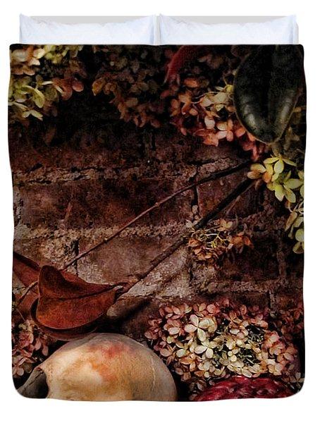 Halloween Still Life Duvet Cover by Joan  Minchak