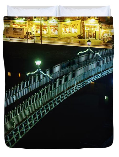 Hapenny Bridge, Dublin City, Co Dublin Duvet Cover by The Irish Image Collection