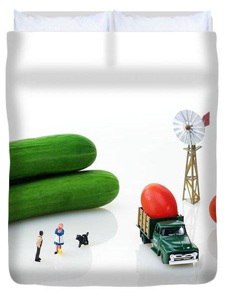 Happy Farm Duvet Cover by Paul Ge
