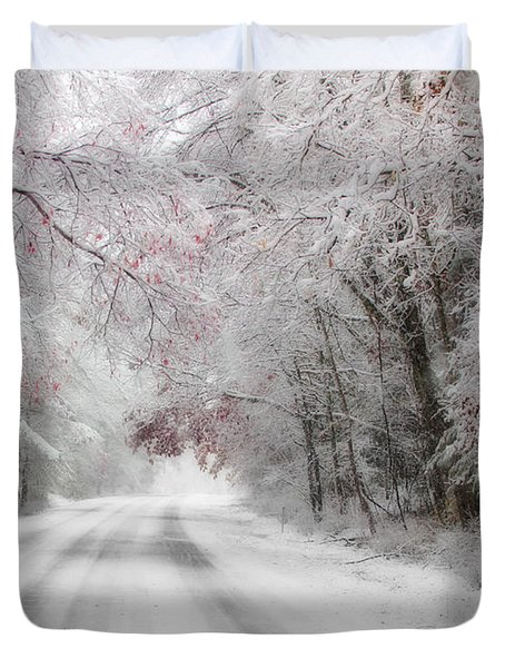 Happy Holidays - Clarks Valley Duvet Cover by Lori Deiter