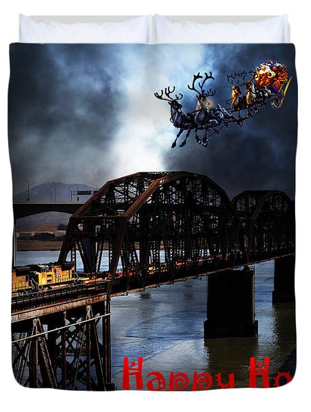 Happy Holidays - Once Upon A Time In The Story Book Town of Benicia California - 5D18849 Duvet Cover by Wingsdomain Art and Photography