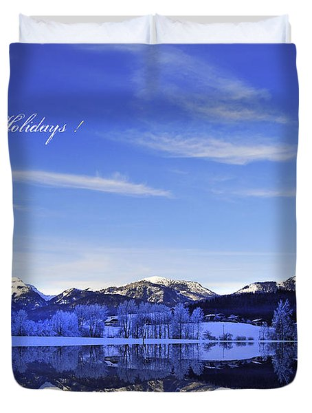 Happy Holidays Duvet Cover by Sabine Jacobs