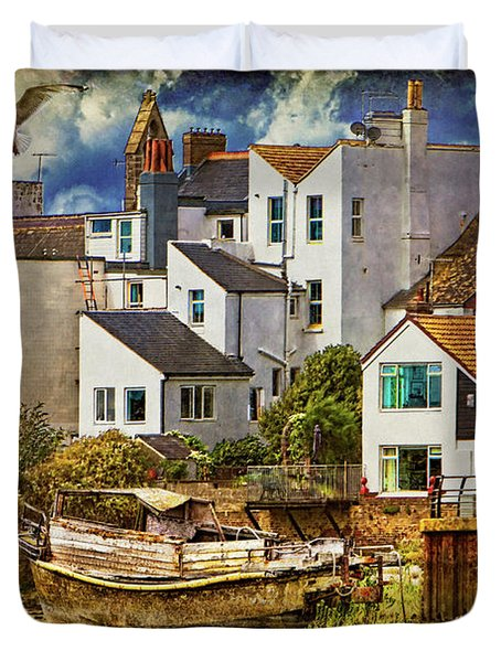 Harbor Houses Duvet Cover by Chris Lord