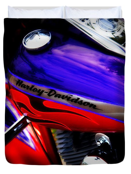 Harley Addiction Duvet Cover by Susanne Van Hulst