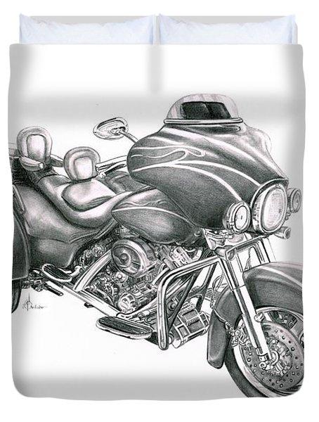 Harley Davidson Trike Duvet Cover by Murphy Elliott