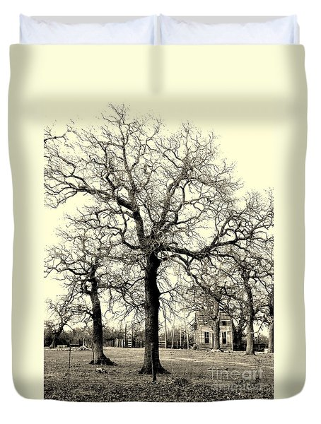 HAUNTED HOMESTEAD Duvet Cover by Joe Jake Pratt