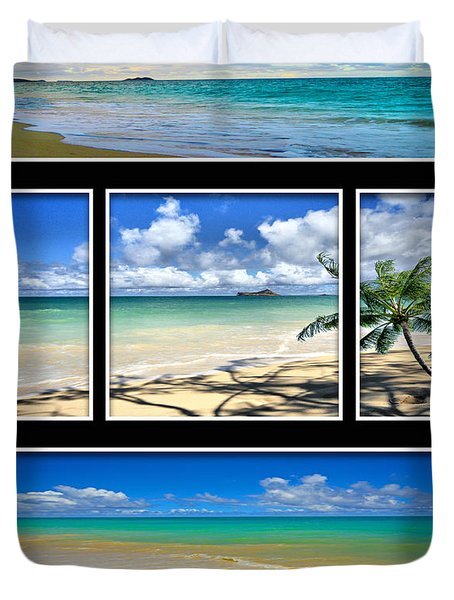 Hawaii Pentaptych Duvet Cover by Cheryl Young
