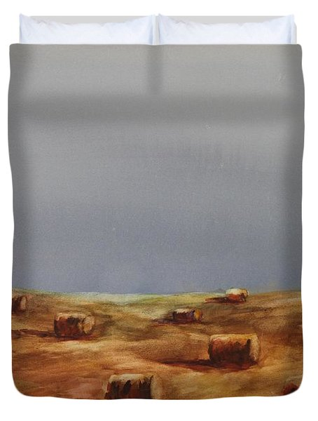 Hayfield Duvet Cover by Ruth Kamenev