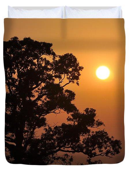 Hazy Sunset Duvet Cover by Marty Koch