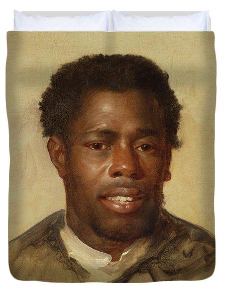 Head Of A Man Duvet Cover by John Singleton Copley
