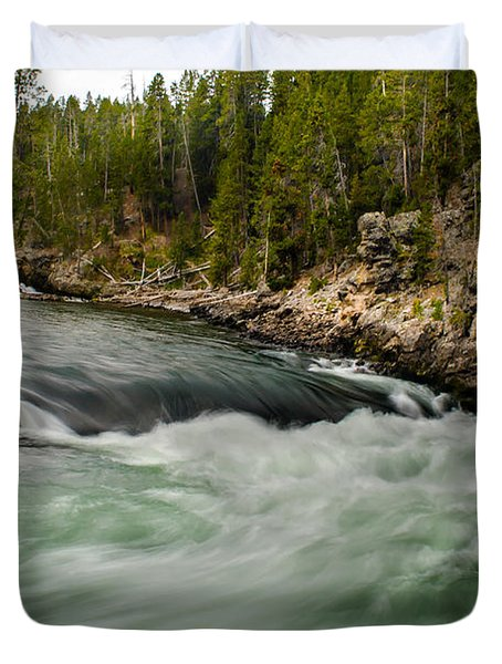 Heading For The Fall Duvet Cover by Robert Bales