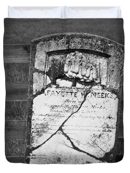 Headstone Of Lafayette Meeks Duvet Cover by Teresa Mucha