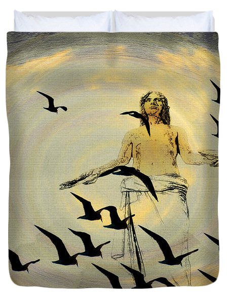 Heaven Sent Duvet Cover by Bill Cannon