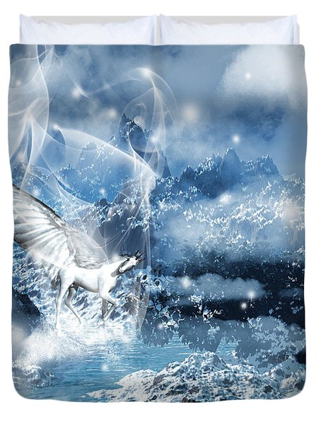 Heavenly Interlude Duvet Cover by Lourry Legarde