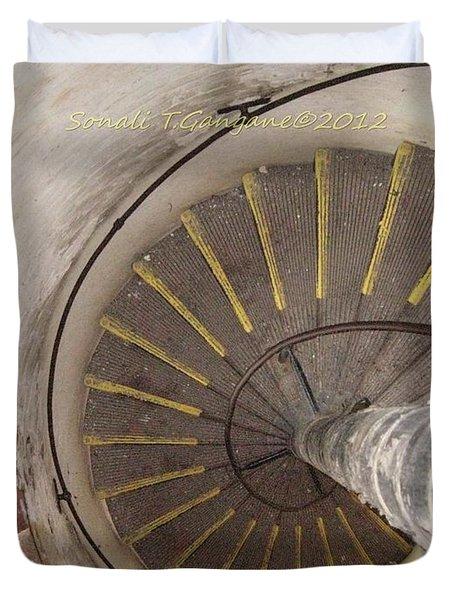 Helical Stairway Duvet Cover by Sonali Gangane