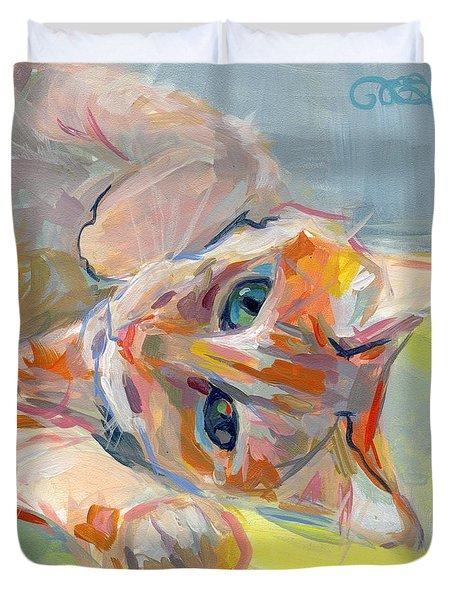 Hello Kitty Duvet Cover by Kimberly Santini